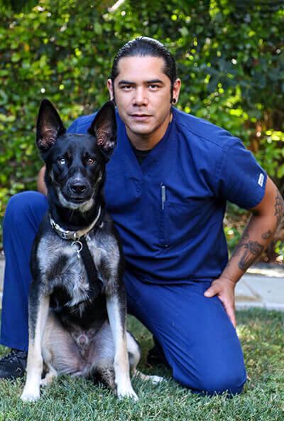 fernando cortes kennel attendant at newport harbor animal hospital